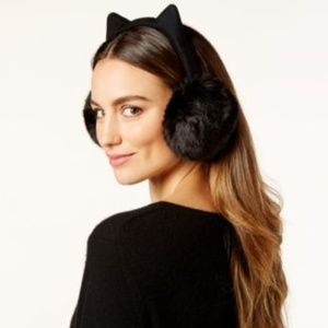 kate spade new york faux fur kitty earmuffs